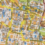 Карта центра города с улицами