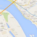 Карта окраины города в Южной Корее