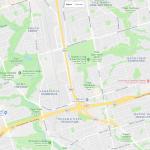 Карта окрестностей Торонто в Канаде