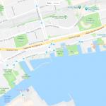 Карта прибрежной части Торонто