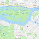 Карта расположения Центрального парка Санкт-Петербурга