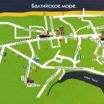 Карта Светлогорска с главными достопримечательностями