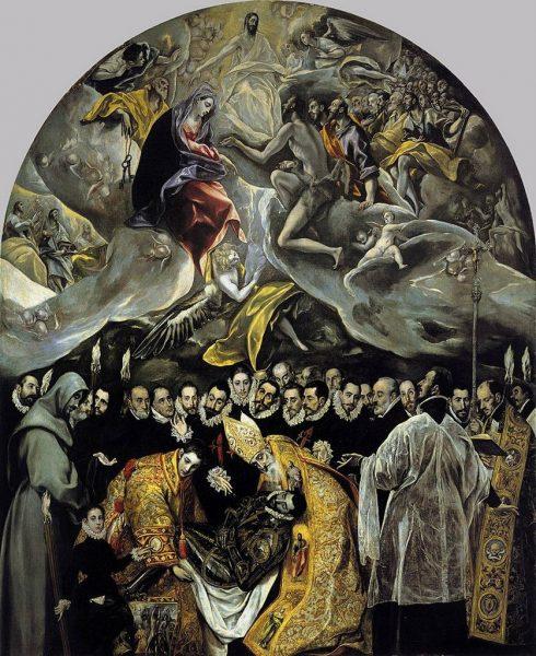 Картина «Погребение графа Оргаса» кисти Эль Греко в церкви Святого Фомы в Толедо