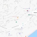 Кипарисовая аллея на карте Алупки в Крыму