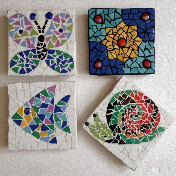Мозаичные картины, сделанные детьми