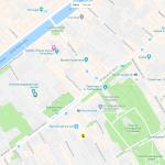 Несколько парков на карте Санкт-Петербурга