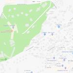 Несколько пляжей и гостиниц на карте города Сочи