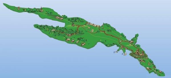 Очертания острова Кижи