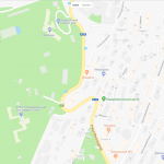 Один из санаториев на карте Сочи