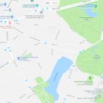 Парк Аркадия на карте Риги
