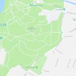 Парк Бабельсберг на карте города