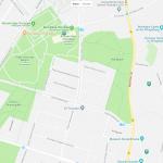 Парки на карте Потсдама
