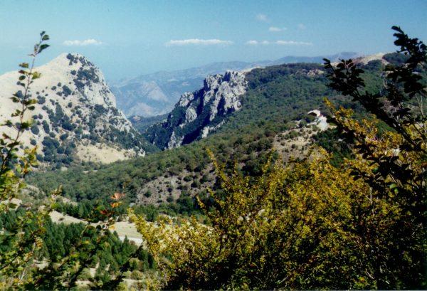 Пейзаж с горами в заповеднике «Мадоние»