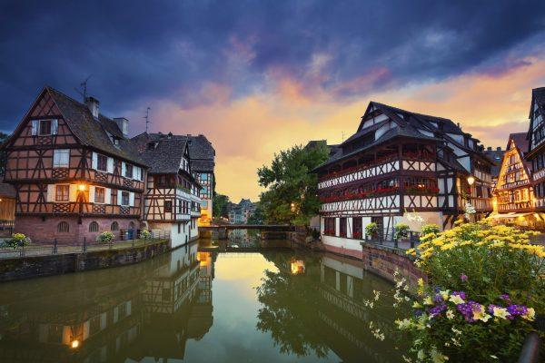 Пейзаж Страсбурга