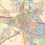 Подробная карта Можайска с улицами