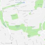 Расположение парков на карте пригорода Торонто