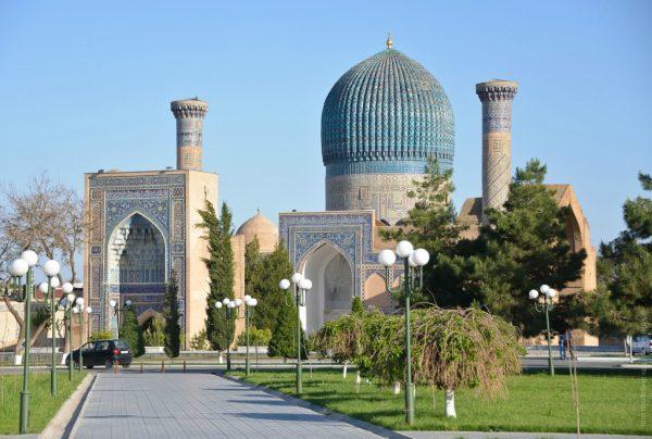 Вид на здания Самарканда