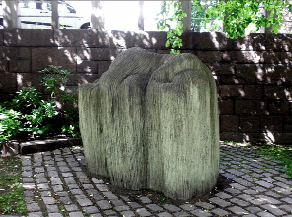 Скульптура «Отдыхающая девочка с ивовыми прутьями»