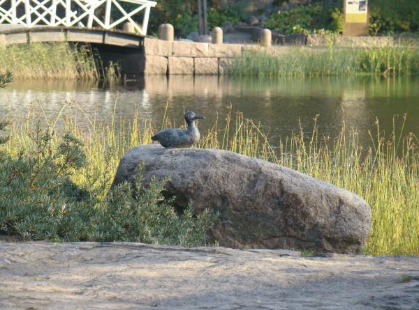 Скульптура утки в парке «Сапокка» в Котке