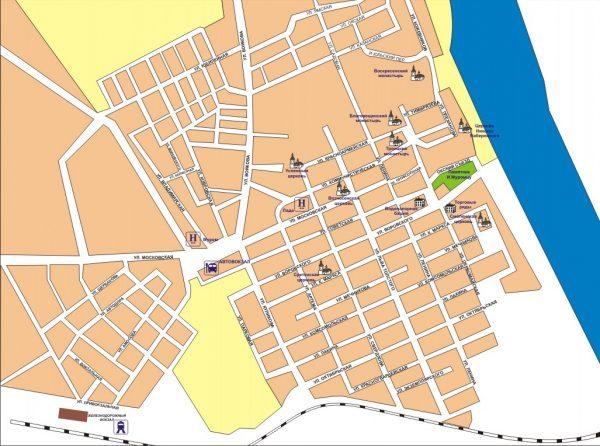 Туристическая карта Мурома