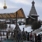 Святой колодец Ферапонта зимой