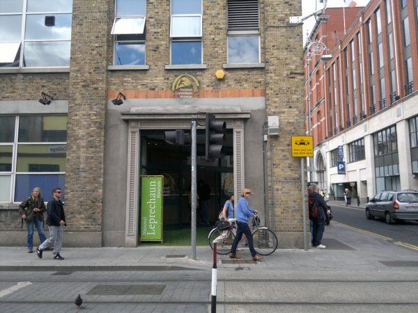 Вход в Национальный музей лепреконов в Дублине