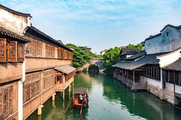Водный город Учжэнь в Китае