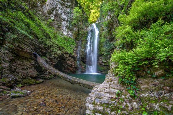 Водопад в Сочинском национальном парке
