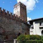 Замок Castelvecchio с правой стороны