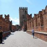 Замок Castelvecchio тротуар на стене