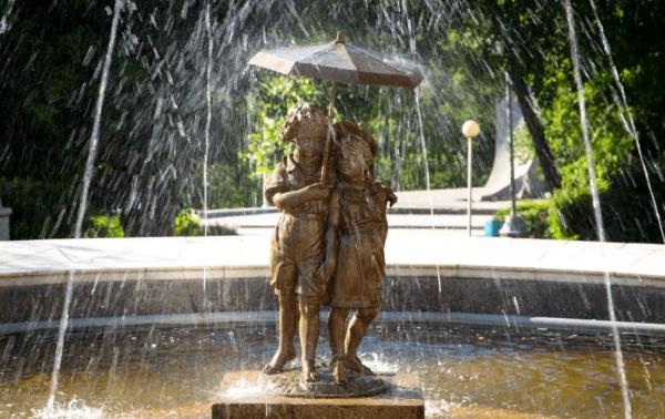 Фонтан в Струковском саду в Самаре
