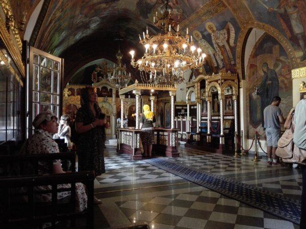 Церковь Ружица изнутри