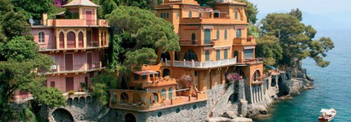 Домики в Генуе на берегу Лигурийского моря