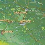 Ессентуки на карте Кавминвод