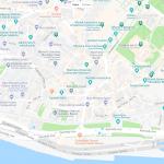 Голубая мечеть на карте Стамбула
