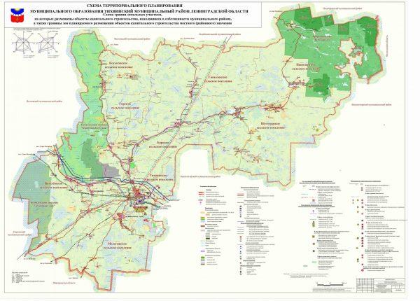 Город Тихвин на карте Тихвинского района