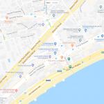 Карта расположения набережной Ниццы