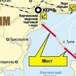 Крымский мост на карте России