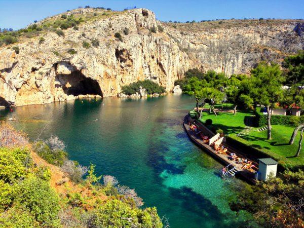 Озеро Вульягмени в Афинах