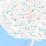 Несколько мечетей на карте Стамбула