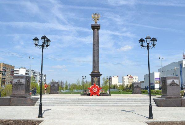 Стела «Тихвин — город воинской славы»