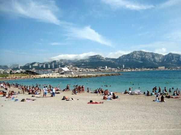Один из пляжей Прадо в Марселе