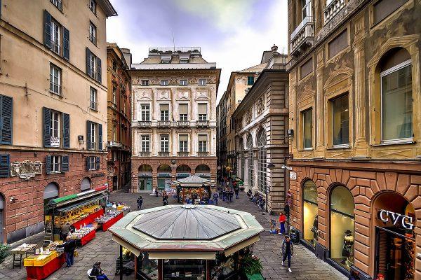 Площадь Банчи в Генуе