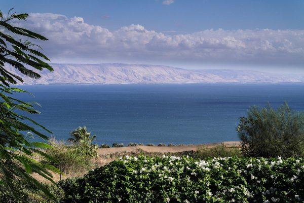 Побережье Галилейского моря в Израиле