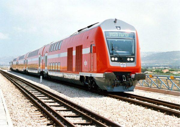 Поезд компании «Железные дороги Израиля»