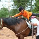 Ребёнок на лошади в «Городе мастеров»