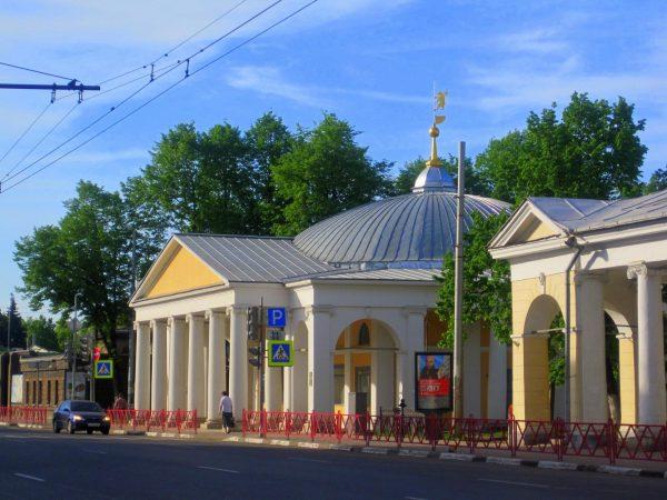 Ротонда и часть Гостиного двора в Ярославле