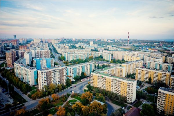 Вид на жилой квартал Самары
