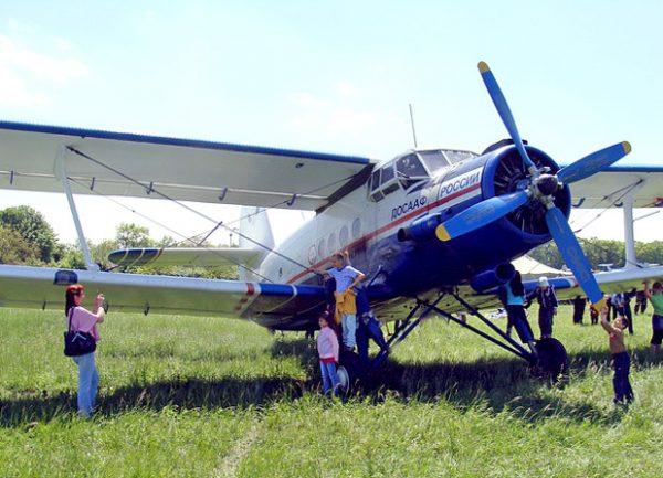 Спортивный самолёт аэроклуба в Ессентуках