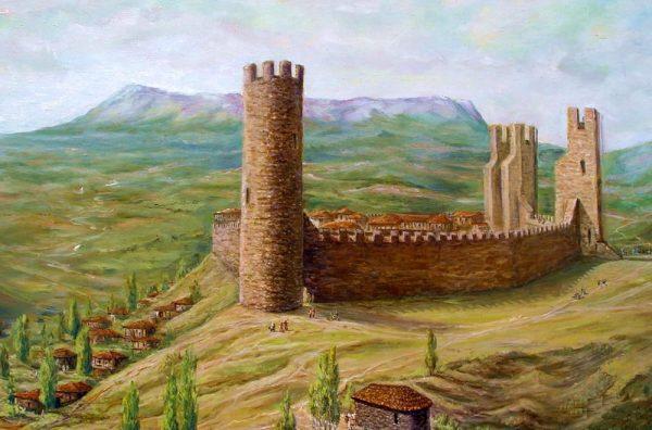 Средневековая крепость на месте современной Алушты